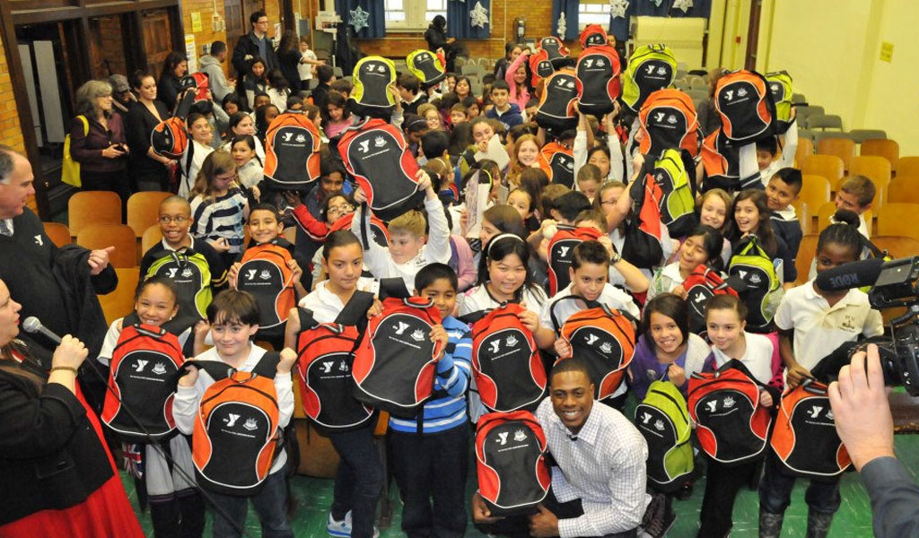 2012 - IN THE WAKE OF HURRICANE SANDY, Grand Kids partnered with the YMCA to provide disaster relief to more than 10,000 displaced students in the New York area.