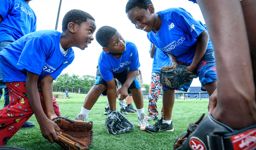 2014 - ONE MILLION SERVED AT YOUTH CAMPS. The Grand Kids' Youth Baseball Camp program hosts instructional clinics for children across the country all year long.